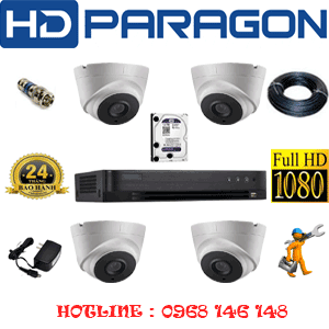 TRỌN BỘ 4 CAMERA HDPARAGON 2.0MP (PRG-24700)-PRG-24700
