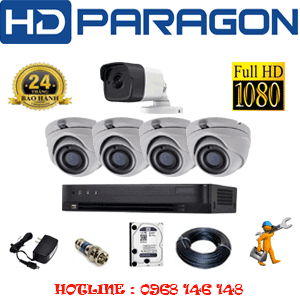Lắp Đặt Trọn Bộ 5 Camera Hdparagon 2.0Mp (Prg-249110)-PRG-249110