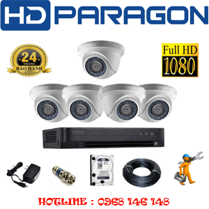 Lắp Đặt Trọn Bộ 5 Camera Hdparagon 2.0Mp (Prg-25300F)-PRG-25300F