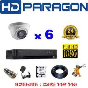 Lắp Đặt Trọn Bộ 6 Camera Hdparagon 2.0Mp (Prg-26300F)-PRG-26300F