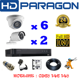 TRỌN BỘ 8 CAMERA HDPARAGON 2.0MP (PRG-26324F)-PRG-26324F