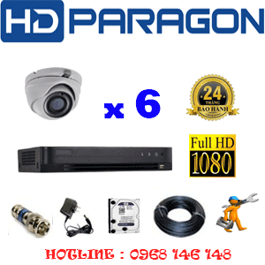 Lắp Đặt Trọn Bộ 6 Camera Hdparagon 2.0Mp (Prg-26900)-PRG-26900