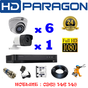 TRỌN BỘ 7 CAMERA HDPARAGON 2.0MP (PRG-269110)-PRG-269110