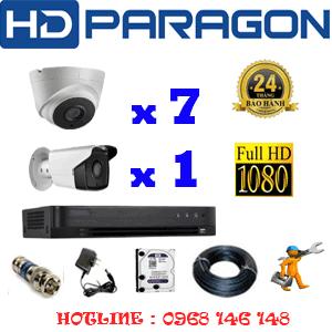Lắp Đặt Trọn Bộ 8 Camera Hdparagon 2.0Mp (Prg-27718)-PRG-27718