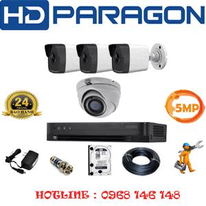 Lắp Đặt Trọn Bộ 4 Camera Hdparagon 5.0Mp (Prg-51536)-PRG-51536