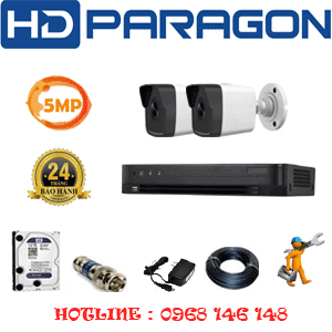 Lắp Đặt Trọn Bộ 2 Camera Hdparagon 5.0Mp (Prg-52600)-PRG-52600