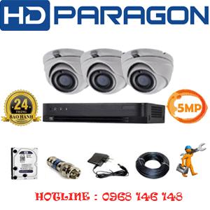 TRỌN BỘ 3 CAMERA HDPARAGON 5.0MP (PRG-53500)-PRG-53500