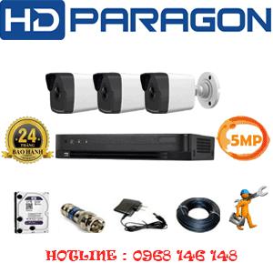 TRỌN BỘ 3 CAMERA HDPARAGON 5.0MP (PRG-53600)-PRG-53600