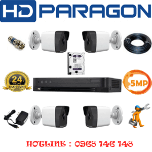 Lắp Đặt Trọn Bộ 4 Camera Hdparagon 5.0Mp (Prg-54600)-PRG-54600