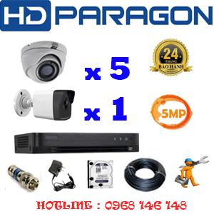 Lắp Đặt Trọn Bộ 6 Camera Hdparagon 5.0Mp (Prg-55516)-PRG-55516