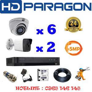 Lắp Đặt Trọn Bộ 8 Camera Hdparagon 5.0Mp (Prg-56526)-PRG-56526