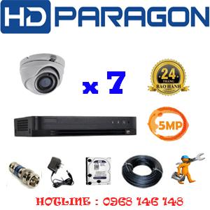 TRỌN BỘ 7 CAMERA HDPARAGON 5.0MP (PRG-57500)-PRG-57500