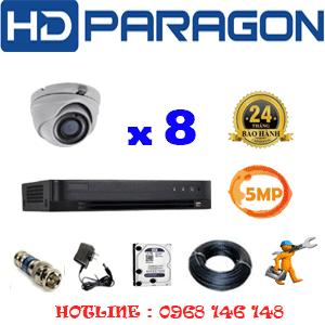 Lắp Đặt Trọn Bộ 8 Camera Hdparagon 5.0Mp (Prg-58500)-PRG-58500