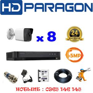 Lắp Đặt Trọn Bộ 8 Camera Hdparagon 5.0Mp (Prg-58600)-PRG-58600