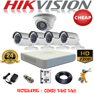 TRỌN BỘ 5 CAMERA CHEAP HIKVISION 1.0MP (HIK-11142C)-HIK-11142C