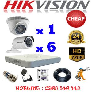 TRỌN BỘ 7 CAMERA CHEAP HIKVISION 1.0MP (HIK-11162C)-HIK-11162C