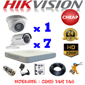 TRỌN BỘ 8 CAMERA CHEAP HIKVISION 1.0MP (HIK-11172C)-HIK-11172C