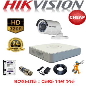 TRỌN BỘ 1 CAMERA CHEAP HIKVISION 1.0MP (HIK-11200C)-HIK-11200C