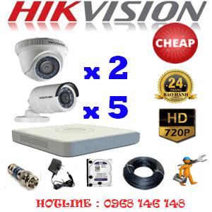 TRỌN BỘ 7 CAMERA CHEAP HIKVISION 1.0MP (HIK-12152C)-HIK-12152C