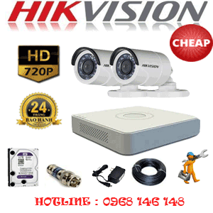 TRỌN BỘ 2 CAMERA CHEAP HIKVISION 1.0MP (HIK-12200C)-HIK-12200C