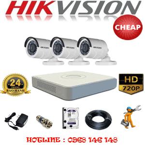 TRỌN BỘ 3 CAMERA CHEAP HIKVISION 1.0MP (HIK-13200C)-HIK-13200C