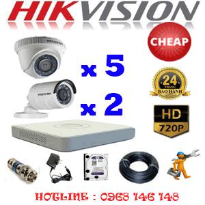 TRỌN BỘ 7 CAMERA CHEAP HIKVISION 1.0MP (HIK-15122C)-HIK-15122C