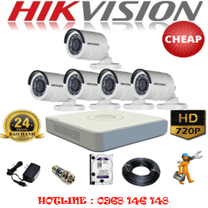TRỌN BỘ 5 CAMERA CHEAP HIKVISION 1.0MP (HIK-15200C)-HIK-15200C