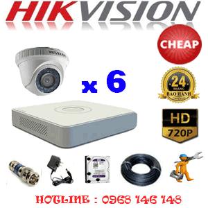 Lắp Đặt Trọn Bộ 6 Camera Hikvision 1.0Mp (Hik-16100C)-HIK-16100C