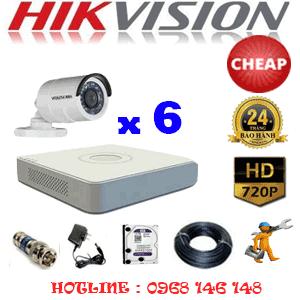 TRỌN BỘ 6 CAMERA CHEAP HIKVISION 1.0MP (HIK-16200C)-HIK-16200C