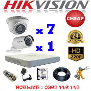 Lắp Đặt Trọn Bộ 8 Camera Hikvision 1.0Mp (Hik-17112C)-HIK-17112C