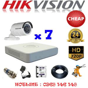 TRỌN BỘ 7 CAMERA CHEAP HIKVISION 1.0MP (HIK-17200C)-HIK-17200C