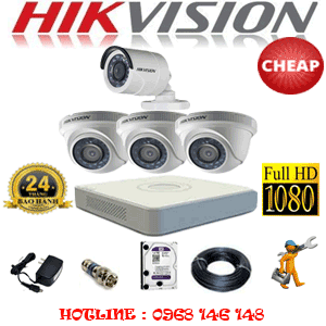 TRỌN BỘ 4 CAMERA CHEAP HIKVISION 2.0MP (HIK-23314C)-HIK-23314C