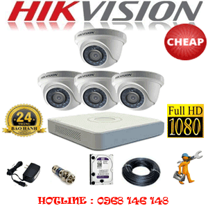 TRỌN BỘ 4 CAMERA CHEAP HIKVISION 2.0MP (HIK-24300C)-HIK-24300C