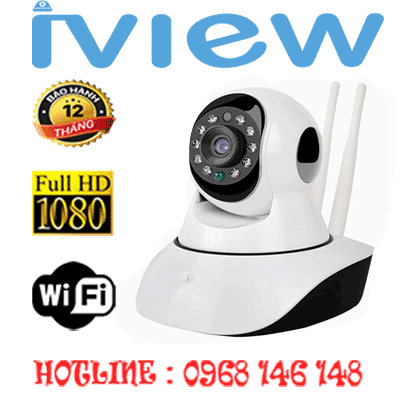 TRỌN BỘ 1 CAMERA WIFI IVIEW 2.0MP IVW-6901AL-IVW-6901AL