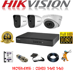 Trọn Bộ 3 Camera Ip Hikvision 2.0Mp (Hik-2113214)-HIK-2113214