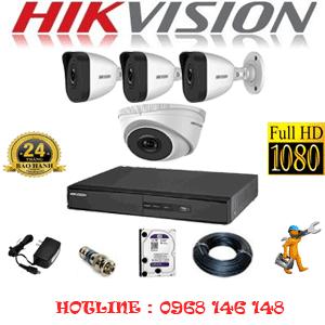 Lắp Đặt Trọn Bộ 4 Camera Ip Hikvision 2.0Mp (Hik-2113314)-HIK-2113314
