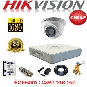 TRỌN BỘ 1 CAMERA CHEAP HIKVISION 2.0MP (HIK-21300C)-HIK-21300C