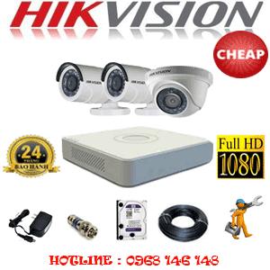 TRỌN BỘ 3 CAMERA CHEAP HIKVISION 2.0MP (HIK-21324C)-HIK-21324C