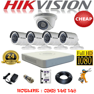 TRỌN BỘ 5 CAMERA CHEAP HIKVISION 2.0MP (HIK-21344C)-HIK-21344C