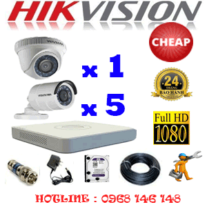 TRỌN BỘ 6 CAMERA CHEAP HIKVISION 2.0MP (HIK-21354C)-HIK-21354C
