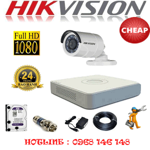 TRỌN BỘ 1 CAMERA CHEAP HIKVISION 2.0MP (HIK-21400C)-HIK-21400C