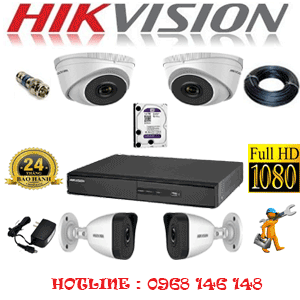 TRỌN BỘ 4 CAMERA IP HIKVISION 2.0MP (HIK-2213214)-HIK-2213214