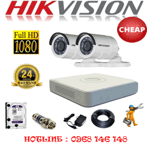 TRỌN BỘ 2 CAMERA CHEAP HIKVISION 2.0MP (HIK-22400C)-HIK-22400C