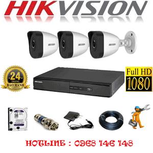 Lắp Đặt Trọn Bộ 3 Camera Ip Hikvision 2.0Mp (Hik-231400)-HIK-231400