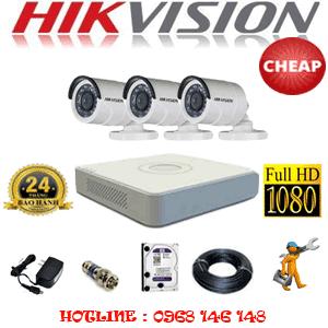 TRỌN BỘ 3 CAMERA CHEAP HIKVISION 2.0MP (HIK-23400C)-HIK-23400C