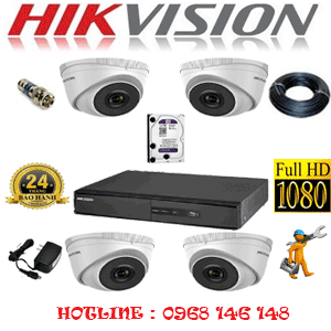 TRỌN BỘ 4 CAMERA IP HIKVISION 2.0MP (HIK-241300)-HIK-241300