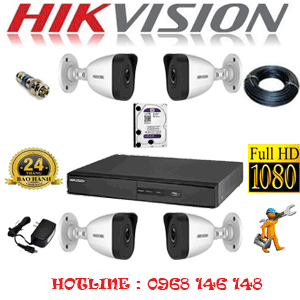TRỌN BỘ 4 CAMERA IP HIKVISION 2.0MP (HIK-241400)-HIK-241400