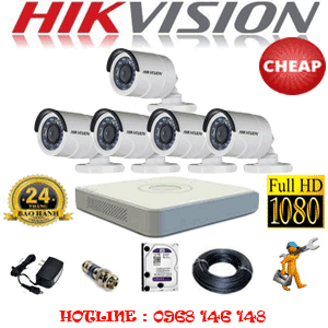 TRỌN BỘ 5 CAMERA CHEAP HIKVISION 2.0MP (HIK-25400C)-HIK-25400C