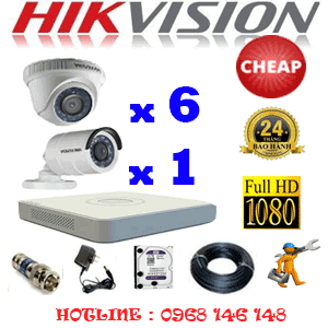 TRỌN BỘ 7 CAMERA CHEAP HIKVISION 2.0MP (HIK-26314C)-HIK-26314C