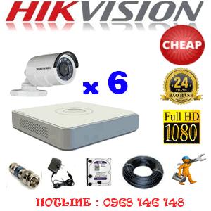 TRỌN BỘ 6 CAMERA CHEAP HIKVISION 2.0MP (HIK-26400C)-HIK-26400C